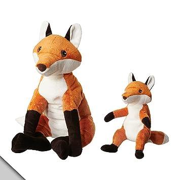 Ikea Fox Stuffed Animal Soft Toy with Cub