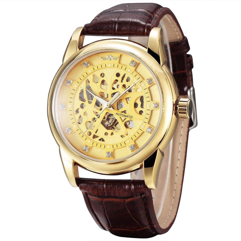 Winnerメンズスケルトン自動機械中空ローマNumberalsダイヤル手首腕時計 1# B071HNGCQV1#