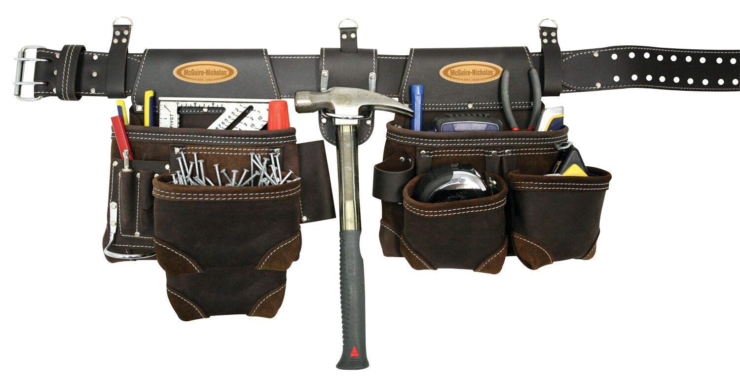 McGuire-Nicholas 803-E Oil Tanned Leather Tool Rig, Brown by McGuire-Nicholas