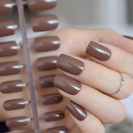 IDEA - Gel UV para uñas postizas, color nude brillante y ...