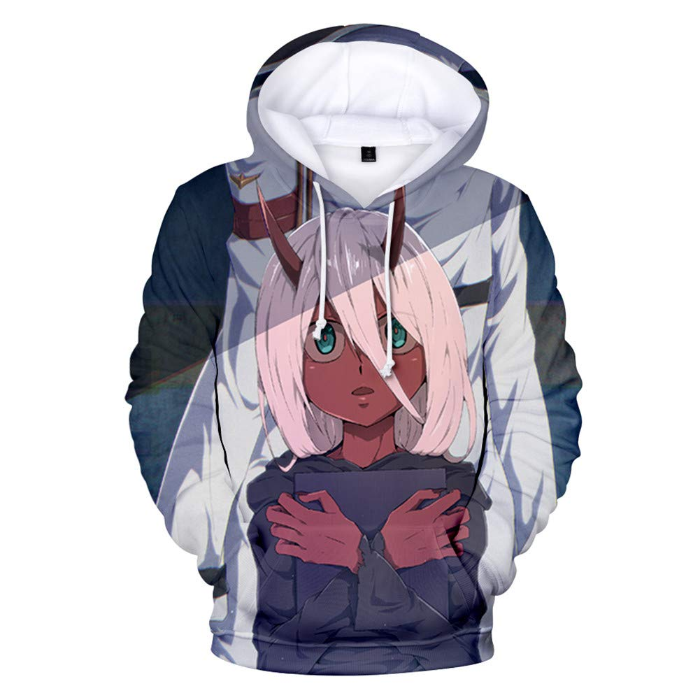 Gumstyle Anime Darling in The Franxx 3D Printed Pullover Hooded Sweatshirt