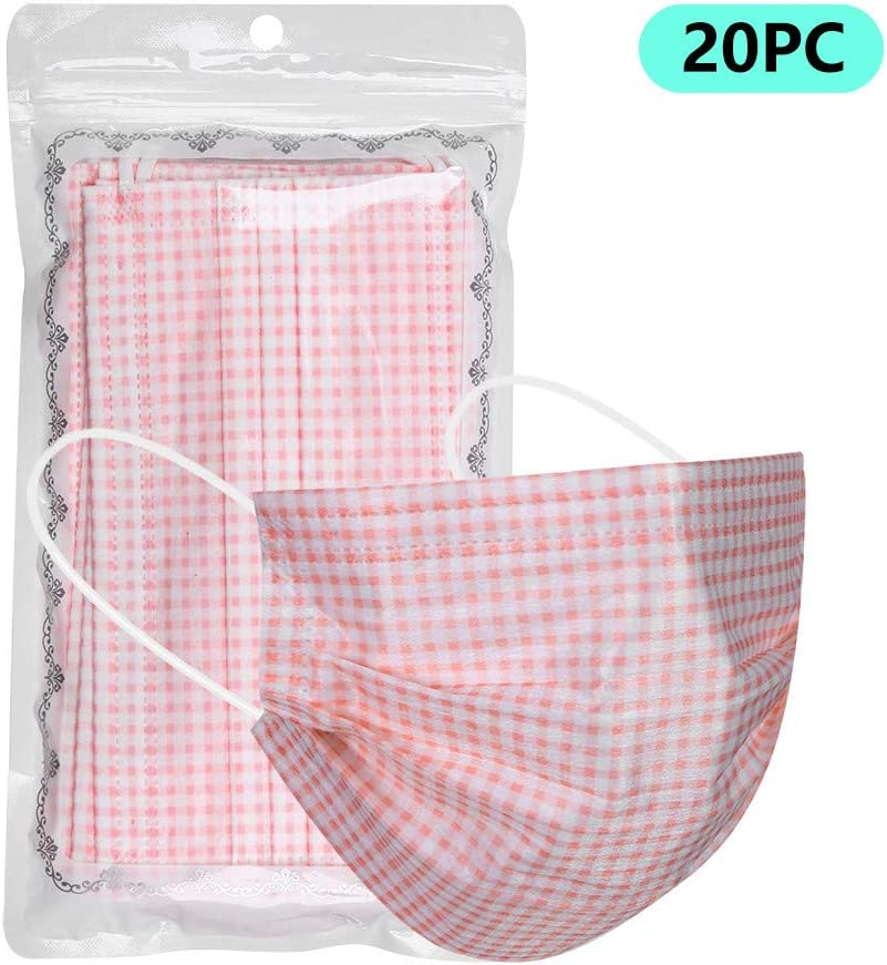 Face Cover Face Covering for Men Unisex Zhousir 3-Layer Face Covers for Women Air Filter Face Bandanas Adults Pink 10//20//30//40//50//100//200Pcs