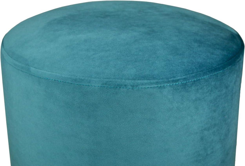 Zivago SAMIRA Pouf in Velluto Color Blue poggiapiedi MOD