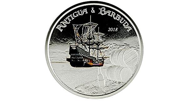 Power Coin Rum Runner Coloreada 1 Oz Moneda Plata 2$ Antigua ...