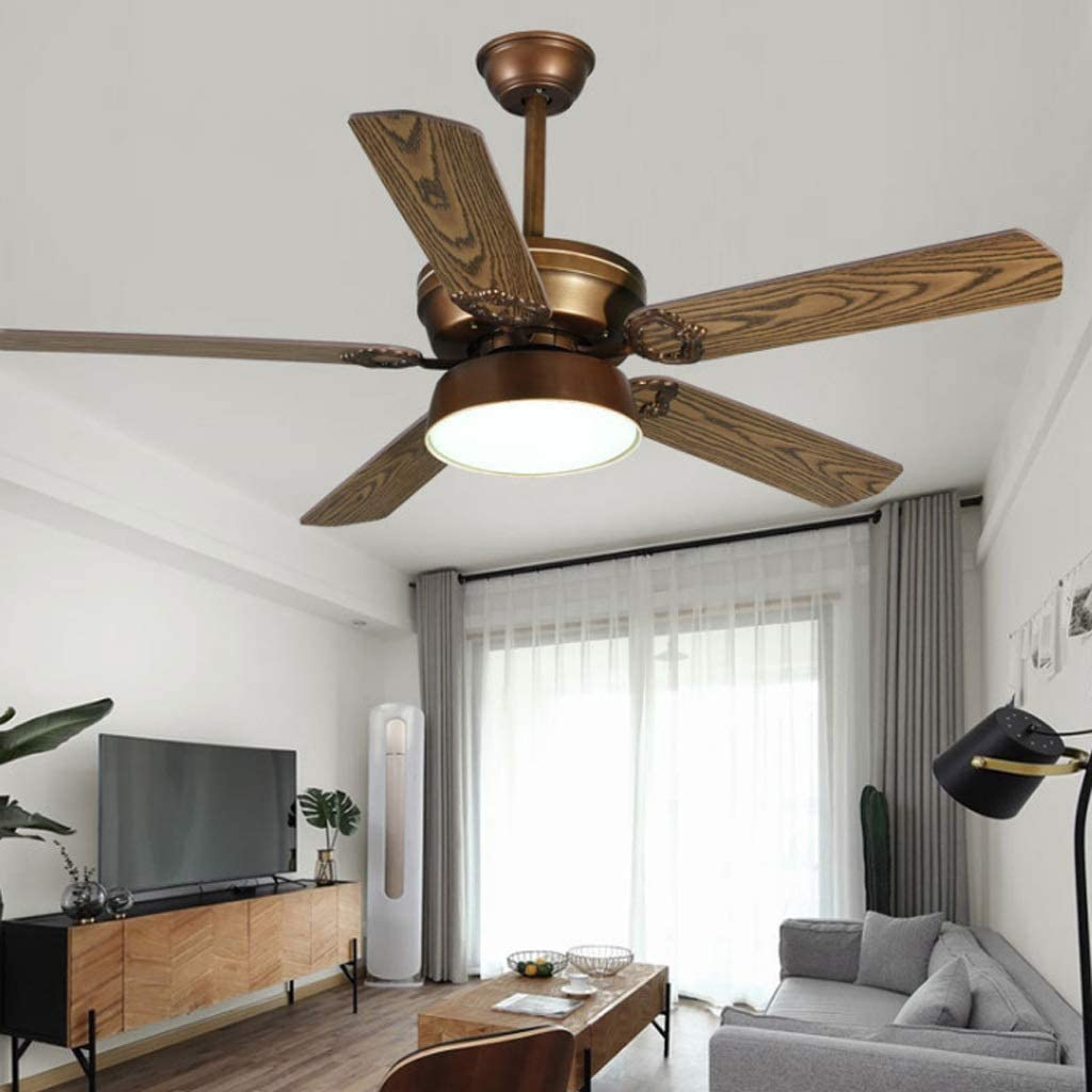 Luz del ventilador de techo American Living Room lámparas de techo ...