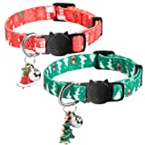 KOOLTAIL Christmas Cat Collars 2 Pack Breakaway