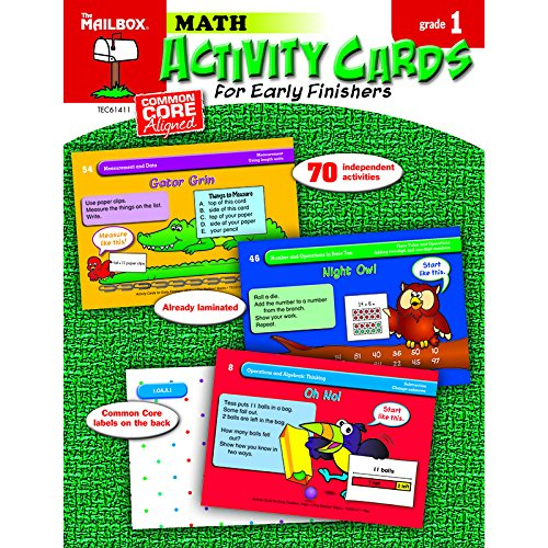 THE MAILBOX BOOKS ACTIVITY CARDS MATH GR 1 (Set of - Book Mailbox Math
