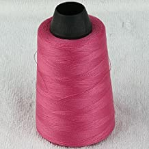 5pc 3000yard/cone Large Cones Cotton Thread Quilting Serger I0066 (Bright Pink)