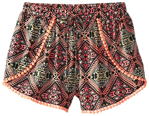 My Michelle Big Girls' Multicolored Dolphin Short with Trimmed Edge, Multi, Large