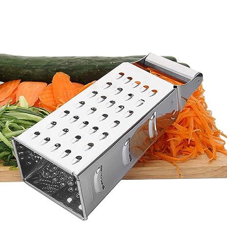 Ogquaton Cocina Verduras Rallador Acero Inoxidable 4 Caras Rallador Multiusos rallador para Verduras Uso de Frutas 1 UNIDS