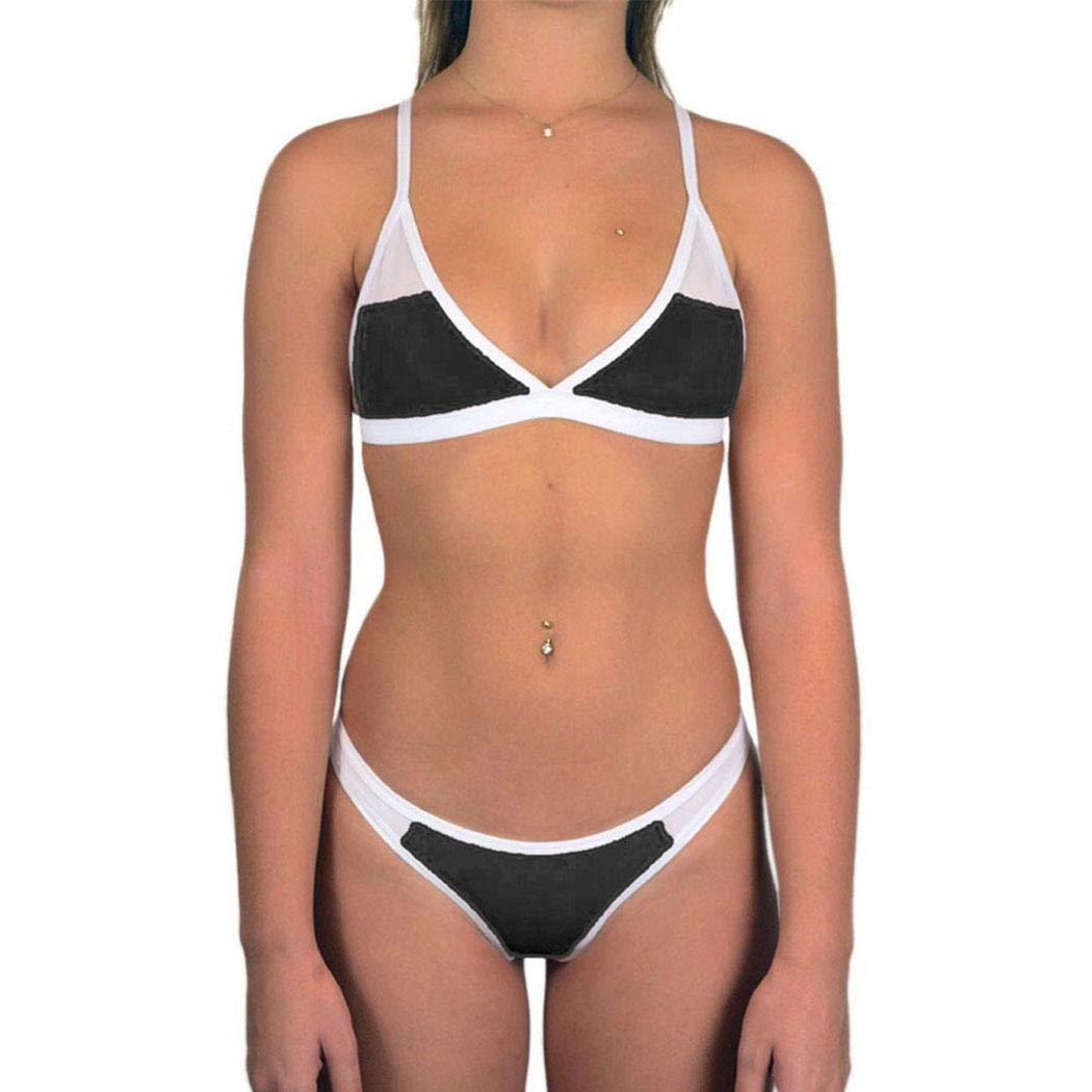 Black Xinnio Women Summer Swimsuit Push Up Bikini Set Bathing Beachwear Swimwear Sets