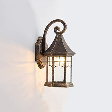 Modeen rustic black outdoor victorian wall light lantern aluminium modeen rustic black outdoor victorian wall light lantern aluminium glass 1 bulb metal luminaire ip44 waterproof aloadofball Images