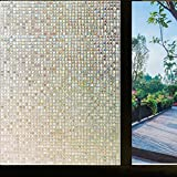 Generic 3D Window Films Non Glue Static Cling Decorative Film Mini Mosaic Privacy Window Film (17.7