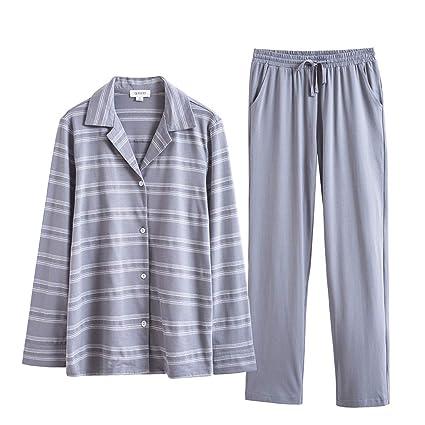 247aa4bf25ca Zcx Pijamas Pijamas De Solapa De Manga Larga para Mujer Pijama De ...