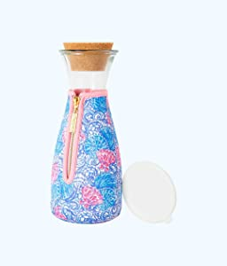LILLY PULITZER Beverage Carafe 36 fl oz Insulated Blue Haven Raising Shell