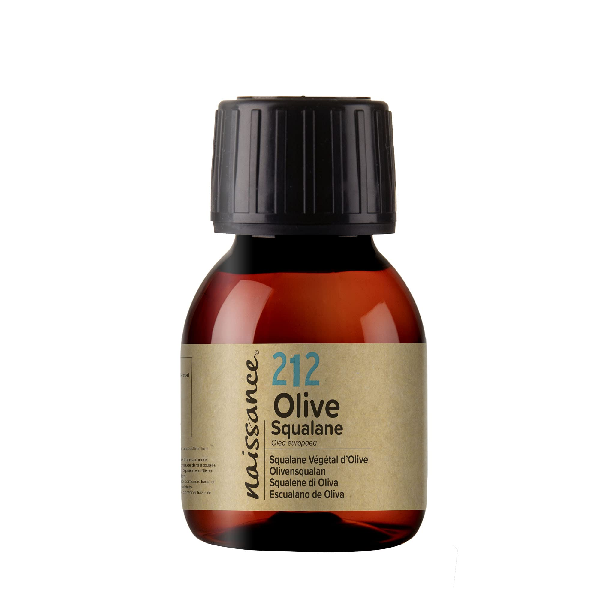 Naissance Pure Olive Squalane Oil 60ml - 100% Natural Plant Based, Face, Hair and Skin Oil Vegan Olive Derived