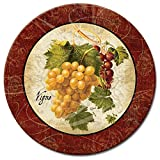 CounterArt Old World Fruit Lazy Susan Glass Serving Plate