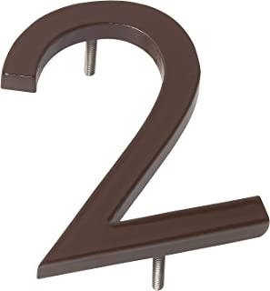 """product image for Montague Metal Products MHN-10-F-AC1-2 Solid Aluminum Modern Floating Address House Numbers, 10"""", Powder Coated Antique Copper"""
