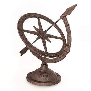 Antikas - reloj de sol - reloj astrológica - hora sombra jardín - relojes de sol terraza patio: Amazon.es: Hogar