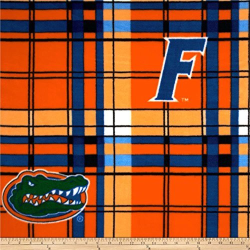 - FLORIDA FLEECE FABRIC-FLORIDA GATORS FLEECE FABRIC-SOLD BY THE YARD