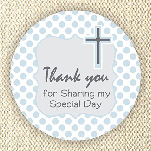 Baptism or Communion Stickers - Boys Baptism or Communion Stickers - Favor Labels- Set of 40 Stickers from Philly Art & Crafts