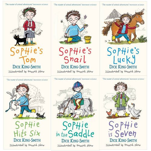 - Dick King-smith Sophie Stories 6 Books Collection Pack Set (Sophies Snail, Sophies Tom, Sophie Hit Ix, Sophie in the Saddle, Sophie Is Seven, Sophie's Lucky) (Sophies Snail, Sophies Tom, Sophie Hit Ix, Sophie in the Saddle, Sophie Is Seven, Sophie's Lucky)