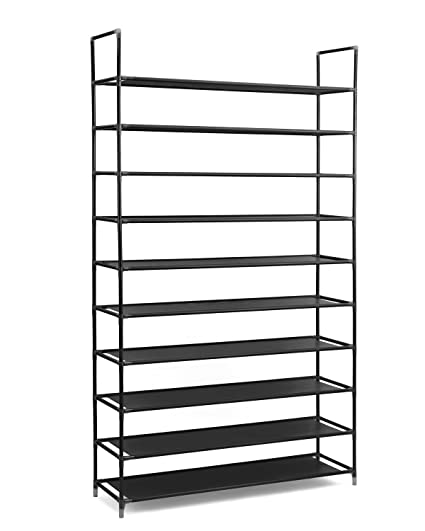 Merveilleux 10 Tiers Shoe Rack 50 Pairs,Shoe Tower Storage Organizer,10 Tier Stainless  Steel