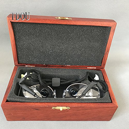 Tdou 2.3X FD504G Private Custom Quartz Lenses Embedded Magnifying Glass Titanium Alloy Frame High-End Grade with High-Grade Mahogany Box (58) by Tdou (Image #1)