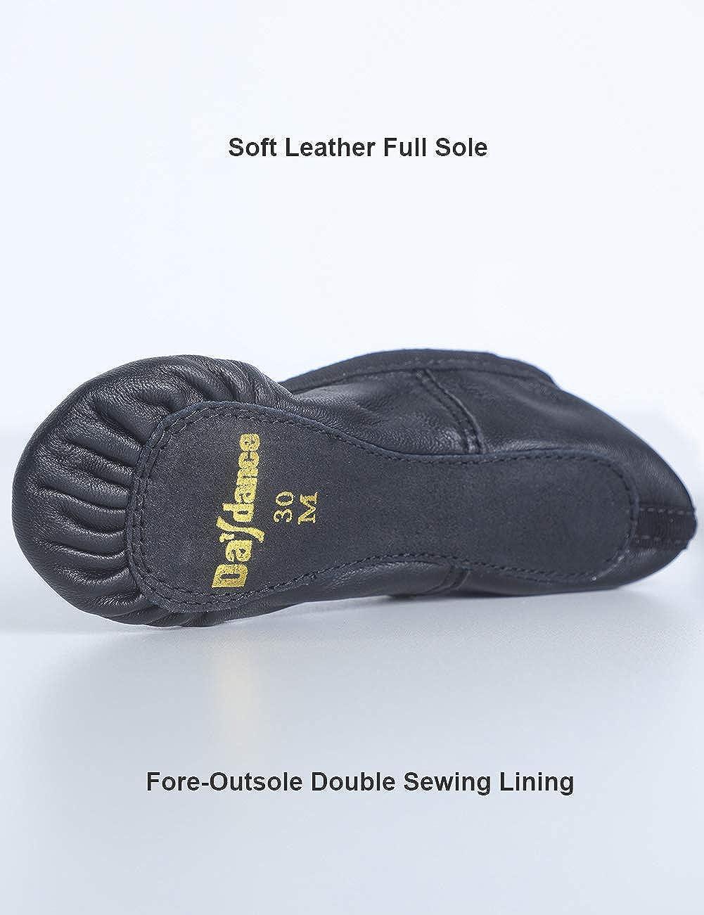 Toddler Premium Leather Ballet Shoes Full Sole Dance Slippers for Kids Little Girls 3-12T
