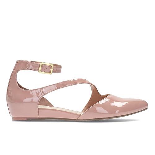 Para Fizz Rosa Cordones Mujer Clarks Zapatos Coral De Piel a56HH7wq