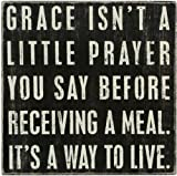 Cheap Primitives by Kathy 17056 Classic Box Sign, 10″ x 10″, Grace Isn't