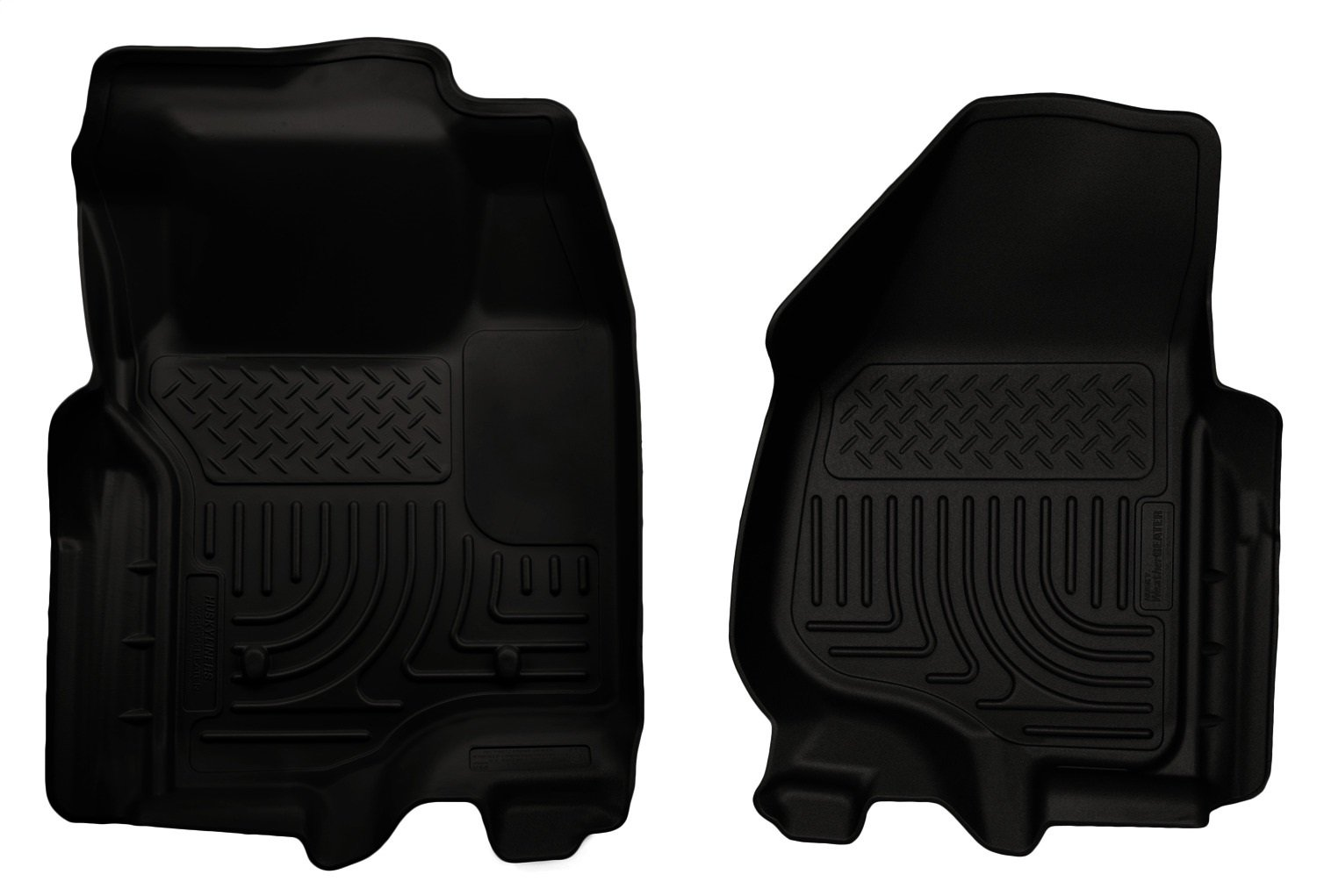 Husky Liners Front Floor Liners Fits 11-12 F250//F350 Crew//SuperCab w//o foot rest 18733