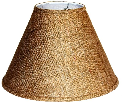 UPC 857953003172, A Ray Of Light 71713BUR 7-Inch by 17-Inch by 13-Inch Brown Burlap Empire Hardback Shade