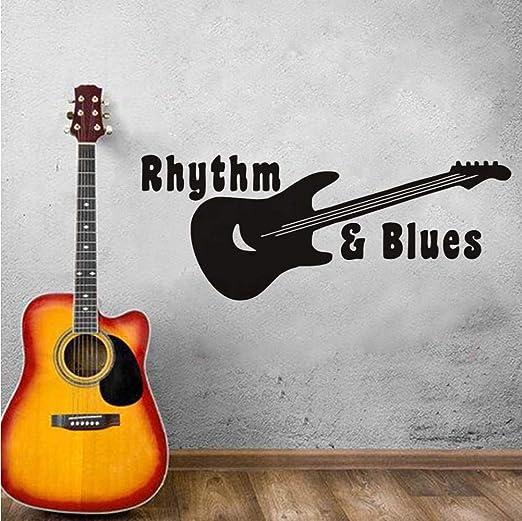 Shuyinju Guitarra Música Etiqueta De La Pared Extraíble Vinilo ...