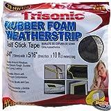 Rubberized Foam Weather Strip Self Stick Tape 3/4''
