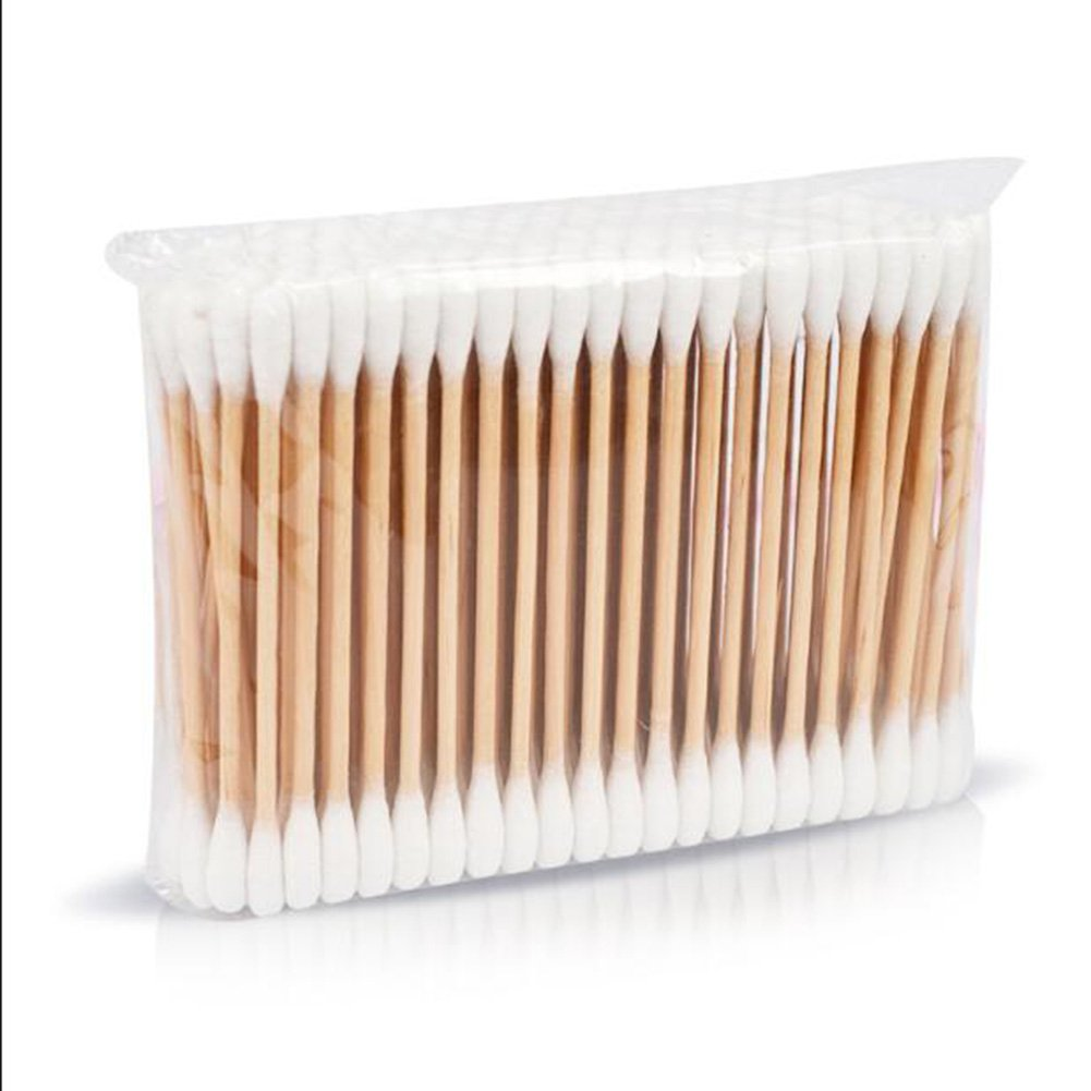 Cotton Buds with Wooden Handles for Makeup Clean Care,200 per pack MTSZZF