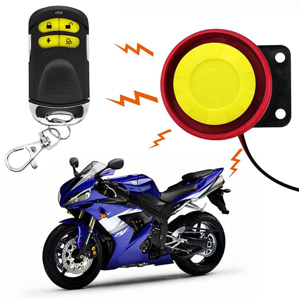 Diebstahlsicherung Motorradzubeh/ör Alarmanlage f/ür Motorr/äder//Kraftfahrzeuge duale Fernbedienung 12/Volt Diebstahlalarm