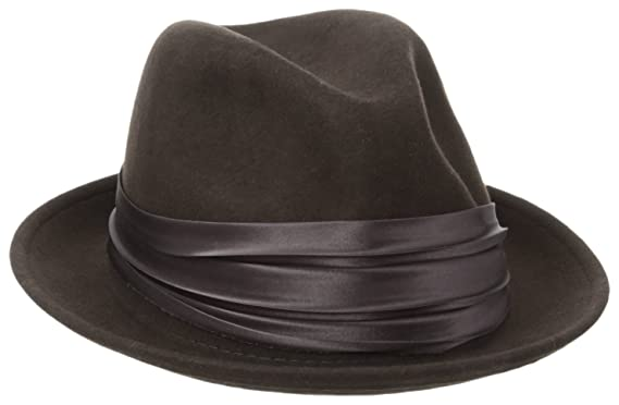 d155e6b540404e Stacy Adams Men's Crushable Wool Felt Snap Brim Fedora Hat at Amazon Men's  Clothing store: