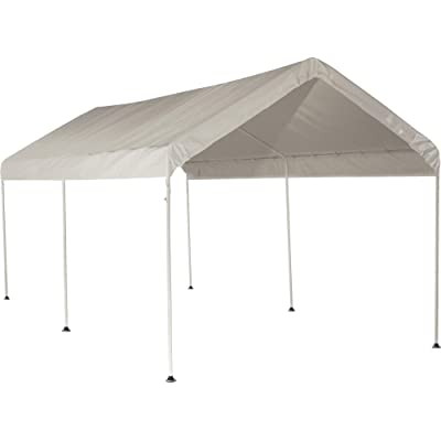 ShelterLogic 10' x 20' MaxAP Outdoor Gazebo or Heavy Duty Steel Canopy Including Waterproof Cover with 50+ UPF Sun Protection Backyard Shade Tent, White : Garden & Outdoor