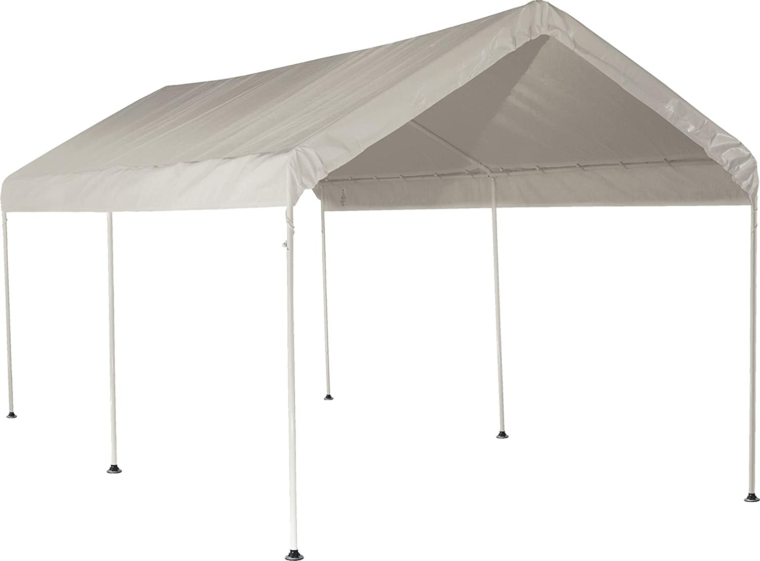 ShelterLogic 10' x 20' MaxAP Outdoor Gazebo or Heavy Duty Steel Canopy Including Waterproof Cover with 50+ UPF Sun Protection Backyard Shade Tent, White