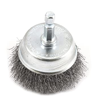 Amazoncom Forney Wire Cup Brush Fine Crimped With - Vinyl cup brush