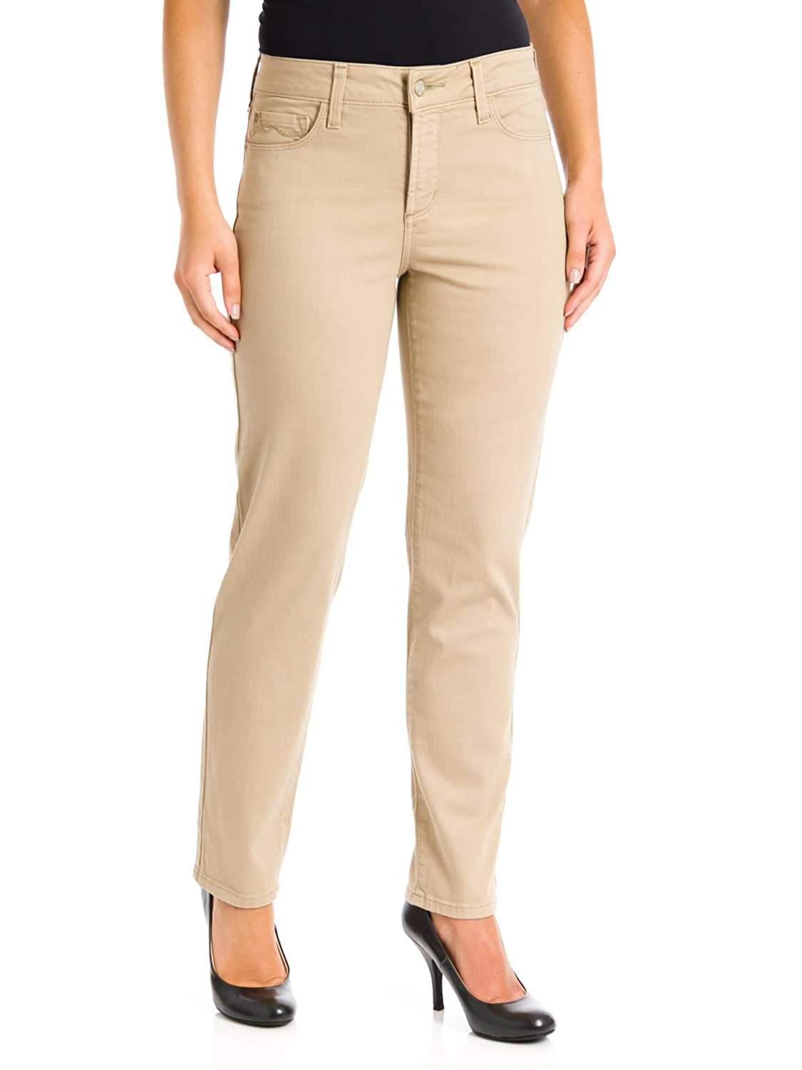 NYDJ Women's Alisha Fitted Ankle Jeans Almond