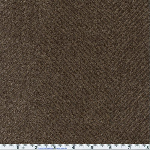 Cocoa Brown Odyssey Herringbone Chenille Home Decorating Fabric, Fabric by The - Brown Medium Fabric Chenille