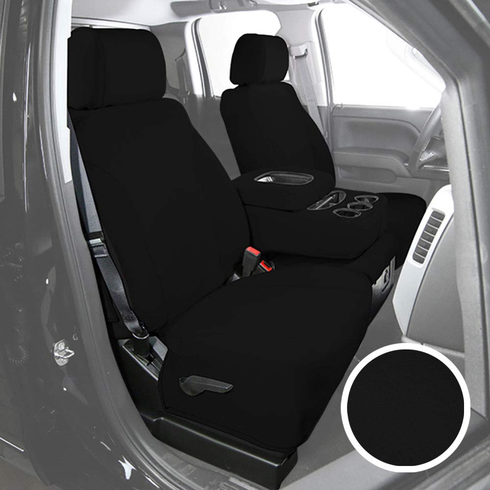 Saddleman S 199795-01 Black Custom Made Front Low Back Bucket with armrests and airbags Seat Covers