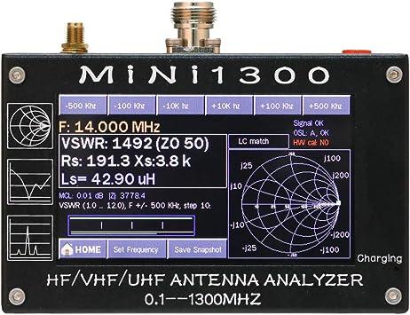 Kecheer Analizador de antena mini 1300,Analizador de red ...