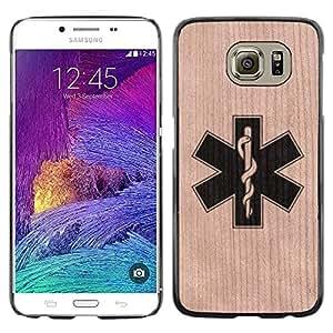 - / Medical Doctor Nurse Hospital Resident - - Funda Delgada Cubierta Case Cover de Madera / FOR Samsung Galaxy S6 G9200 / Jordan Colourful Shop/