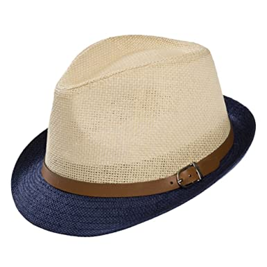 5dae221998a4 Lumanuby Straw Hat For Men and Women Adult Models Of England Paper Grass Hat  Jazz Hat