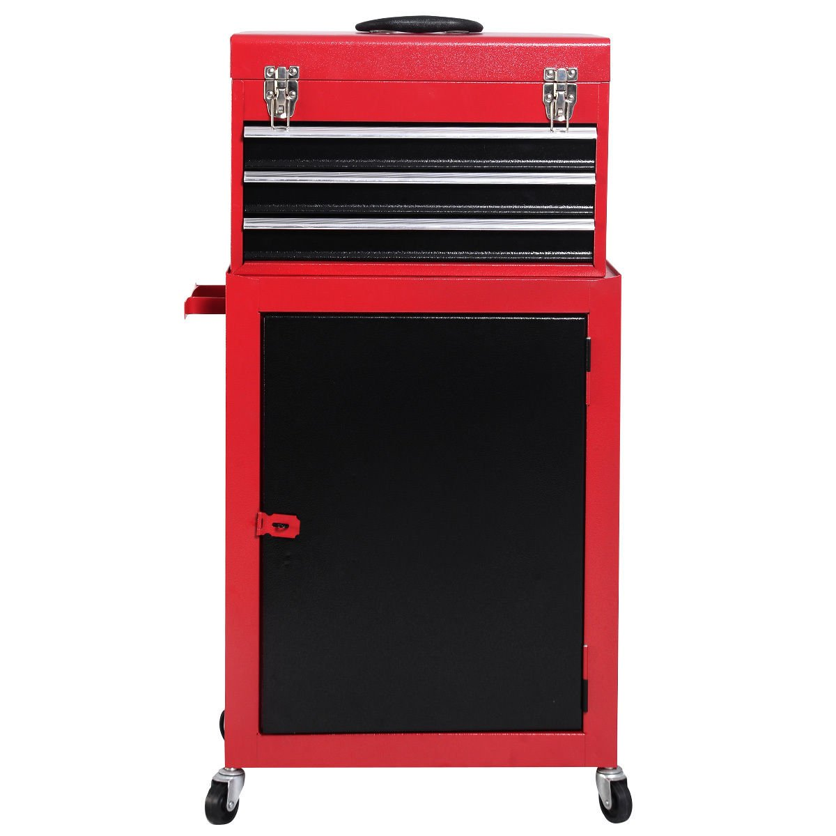 2pc mini tool Rolling toolbox cabinet portable 4 fixed casters storage box garage