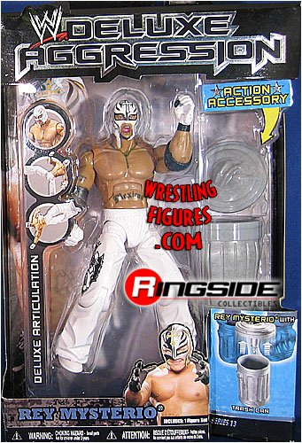 Rey Mysterio White Mask (WWE Wrestling DELUXE Aggression Series 13 Action Figure Rey Mysterio White Mask [Trash Can])