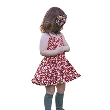 Amazon.com: Bebé niñas ropa, balakie Floral correas sin ...
